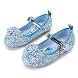 YOSICIL Zapatos de Princesa Elsa para Niña Disfraz de Frozen Zapatos de Ballet con Lentejuela Sandalias Zapatos de Vestir Fiesta Cumpleaños Boda