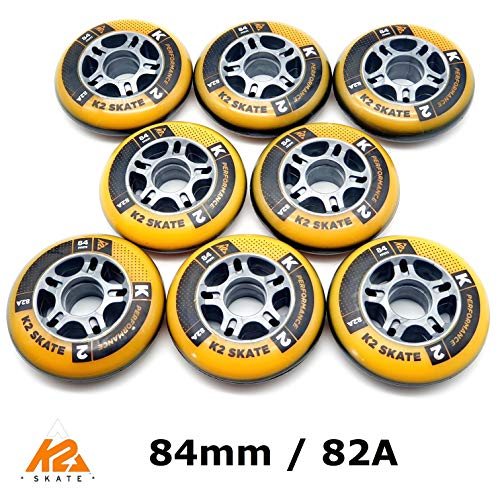 K2 Performance Formula Skate Allround Fitness Rollen 8 Stück 84mm/82A (2 x 3053004.1.1)