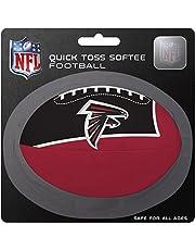 كرة قدم ناعمة للكلاب بشعار فريق أتلانتا فالكونز بالدوري الوطني لكرة القدم الأمريكية، باللون الأحمر، مقاس صغير