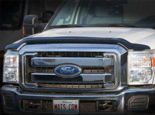 WeatherTech Custom Fit Stone & Bug Deflector for Ford F150 Ext Cab, Dark Smoke