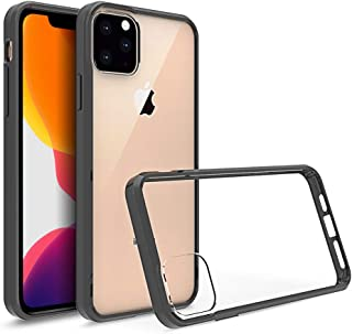 Olixar for iPhone 11 Pro Max Bumper Case - Hard Tough Cover - Crystal Clear Back - Wireless Charging Compatible - ExoShiel...