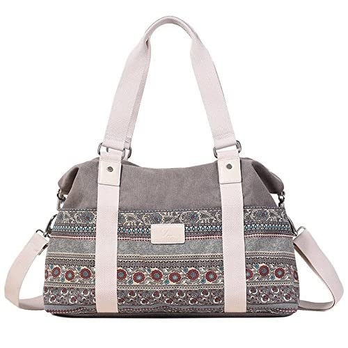 DCCN 2 Ways Women's Canvas Tote Bag with Shoulder Strap