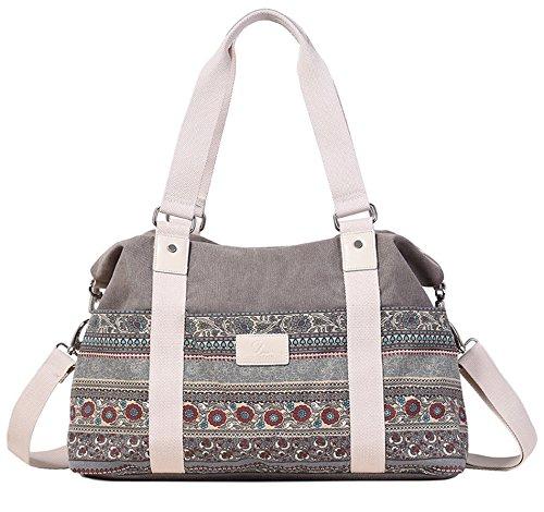 DCCN Canvas Shopper Bag Damen Handtasche Einkaufstasche mit Große Kapazität