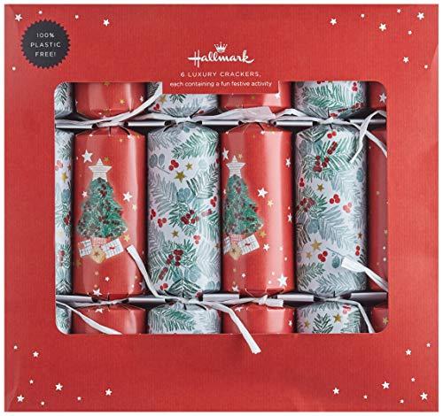 Hallmark 6 Luxury Crackers - Contemporary Red, White...