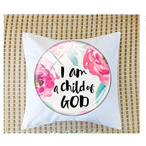 bab Inspirational Language I Am a Child of God Magnet 2 fundas de almohada