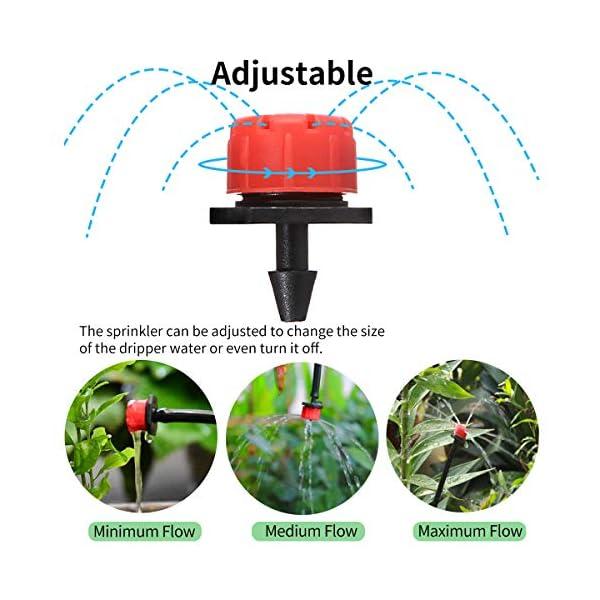 king do way 25M Kit de Riego por Goteo Ajustable, Sistema de Riego Automático con Temporizador, para Jardín, Macizo de…