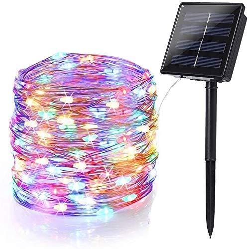 Luci Natale Esterno Solare, BrizLabs 24m 240 LED Stringa Luci Solari Impermeabile 8 Modi Luci Natalizie per Giardino Festa Matrimonio Addobbi Natalizi Albero di Natale, Colorate