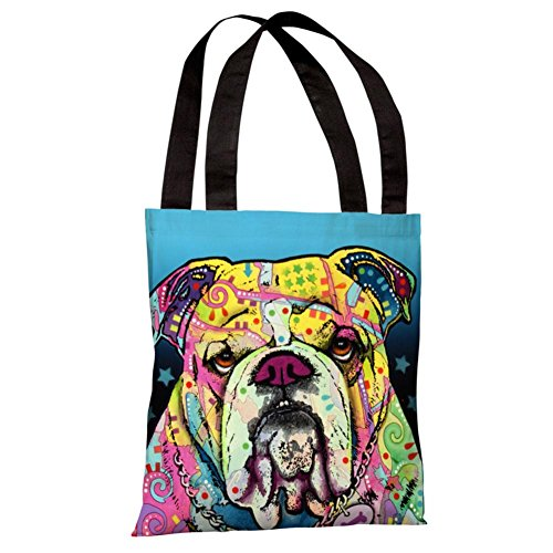 One Bella Casa 71856TT18P 18 in. The Bulldog Polyester Tote Bag by Dean Russo