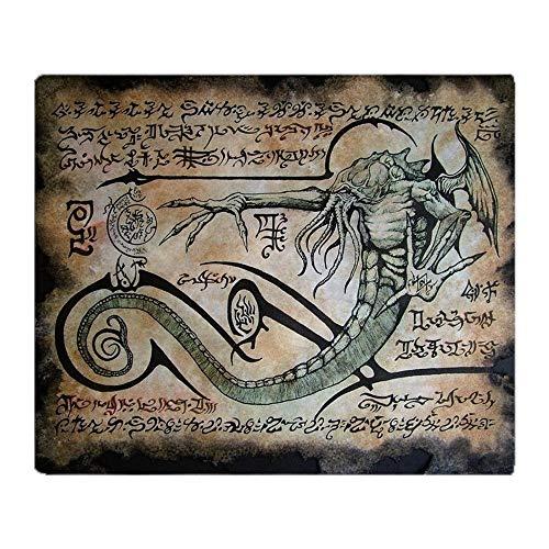 YISUMEI Decke 150x200 cm Kuscheldecken Sanft Flanell Weich Fleecedecke Bettüberwurf Die Rituale von Cthulhu