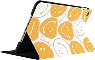 iPadAir3ケース iPad Pro/Air 10.5ケース iPadプロ11ケース iPadAir2ケース iPadAir1ケース iPadairケース iPad9.7インチ2017/2018ケース iPad第6世代ケース iPad第五世代ケース iPadmini5ケース iPadmini4ケース iPadmini123ケース iPadmini第四世代ケース iPadmini第五世代ケース 二つ折り 衝撃吸収 軽量 傷防止 スタンド機能 オートスリープ機能 保護ケース タブレットケース アイパッドケース ブラック ホワイト イエロー 笑顔 可愛い 若者 子供 女の子 (iPad Air2, ホワイト)