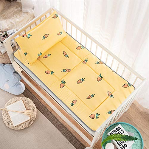 D&LE Premium Memory Foam Hypoallergenic Baby Crib Mattress and Toddler Bed Mattress Safety Washable Breathable Futon Mat Sleep Mattress-Yo 60 * 135cm
