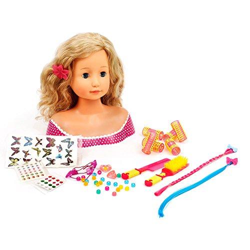 Mamatoy Mama Glammy Ellie Mille Peinados, muñeca Busto de Peinado con 102 Accesorios MMA03000