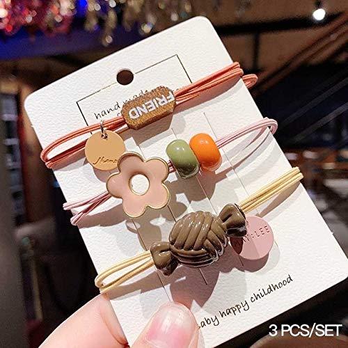 PLI Haarband Voor Baby Meisjes Handgemaakte Leuke Haar Elastiek Kids Haar Touwen Set Accessoires