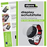 dipos I 6X Schutzfolie matt kompatibel mit Alcatel One Touch Watch Folie Bildschirmschutzfolie