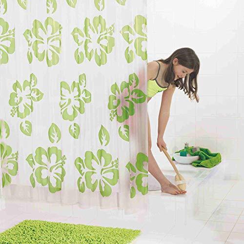 GRUND Duschvorhang FIORI 180x200 cm grün