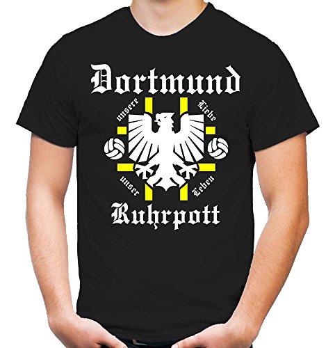 Dortmund Ruhrpott T-Shirt | Fussball | Männer | Herrn | Zeche | Tradition | Ruhrpott | Ultras (L)