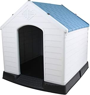 Large Dog Kennel | Outdoor Dog Animal Kennel | Warm Windproof Dog Kennel | Keep Your Pets Safe Dog House | Shed Home for Big Dog Small Dog (Color : No Door, Size : XL105x96x168cm)