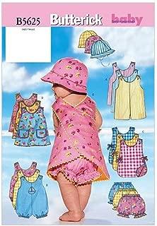 BUTTERICK PATTERNS B5625 Infants' Romper, Jumper, Panties and Hat, Size NB0 (NB-S-M)