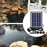 Camidy Solarpanel Angetriebenes Wasserpumpenset Springbrunnenwasserpumpe für Vogelbad-Gartenteich 5W 400L / H Wasserzirkulation