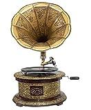 aubaho Nostalgie Grammophon rund Dekoration Trichter Grammofon Antik-Stil (m2)