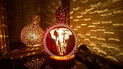 The Walk | Gourd Lamp Shade Night Light Unique Anniversary Birthday Gift Idea Elephant Item Home Decor Accessories