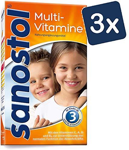 Sanostol Multi-Vitamine: Für Kinder ab 3 Jahren und Erwachsene, unterstützt ein gesundes Immunsystem mit den Vitaminen A und D, 3x230ml