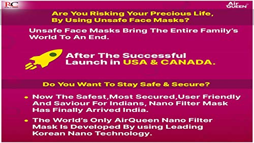 [10 Pack]::Authentic:: [AirQueen] 3-Layers NanoFilter Face Safety Mask [Individually Packaged] [Made in South Korea]