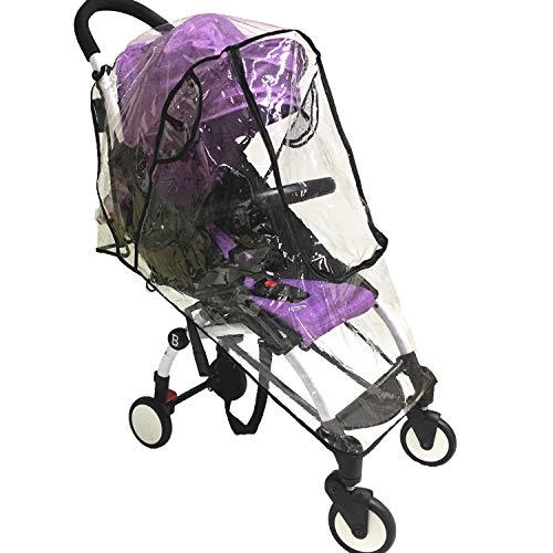 Regen- und Windschutz für Kinderwagen, Einzelwagen, mit großem Fenster und Tasche