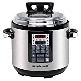 prepAmeal 6QT 8-IN-1 ( 3 Speeds Options ) Pressure Cooker Multi-Use Programmable Instant Cooker Pressure Pot with 16 Smart Programs, Slow Cooker, Rice Cooker, Steamer, Sauté, Yogurt Maker, Warmer, Hotpot (6 Quart)