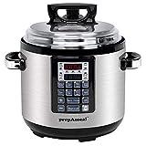 prepAmeal 6QT 8 IN 1 Pressure Cooker MultiUse Programmable Instant Cooker Pressure Pot with Slow Cooker, Rice Cooker, Steamer, Sauté, Yogurt, Warmer