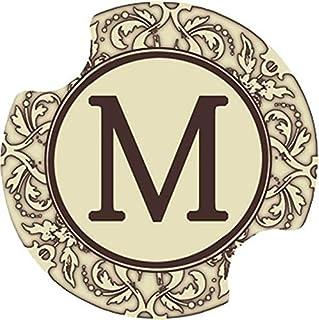 Thirstystone Monogram M Car Cup Holder Coaster, 2-Pack