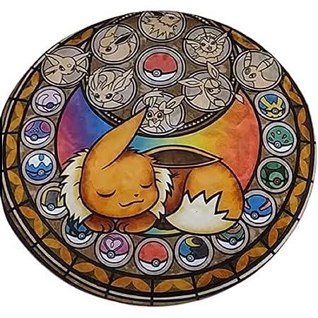 Tapis Pokémon rond Chambre décoration accessoire maison coussin doux Enfant mignon bébé puériculture Pokémon manga Neuf Antidérapant neuf taille 40 centimètre de diamètre
