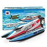 GizmoVine Mini Barco Teledirigido, Barcos RC de 2,4 GHz para Piscinas Que Compiten con Juguetes...