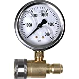 NorthStar Pressure Washer Pressure Gauge - 5000 PSI, 3/8in. Fitting