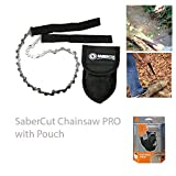 UST SaberCut Chain Saw with 24 Inch Bi-Directional Blade, Compact Design and Nylon Carry Case for Hiking, Backpacking, Camping, Hunting and Outdoor Survival