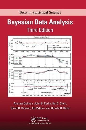 Bayesian Data Analysis, Third Edition (Chapman & Hall/CRC Texts in Statistical Science) by Andrew Gelman John B. Carlin Hal S. Stern David B. Dunson Aki Vehtari Donald B. Rubin(2013-11-01)