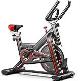 Bicicleta estática KirinSport, ciclo interior con pantalla LCD con monitor de frecuencia cardíaca, transmisión por correa y resistencia continua - bicicleta de velocidad bicicletas de fitness