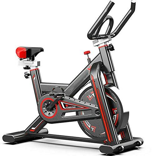 KirinSport Heimtrainer Fahrrad, LCD Display Indoor Cycle mit Pulsmesser, Riemenantrieb & stufenloser Widerstand - Speedbike Magnetwiderstand Fitnessbikes, max. Benutzergewicht 150 kg