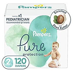 commercial Diaper size 2, 120 pieces – Pampers Pure Protection Disposable Diapers for Kids, Hypoallergenic and… adult size pampers