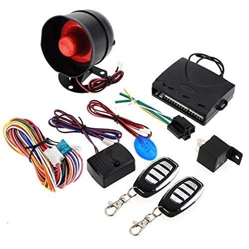YONGYAO Sistema de Seguridad de Alarma de Coche Sirena de Entrada Sin Llave 2 Control Remoto