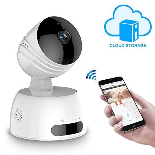 IP cmara WiFi LESHP camaras de Vigilancia inalmbrico HD Pan / Tilt / Zoom, Guardar videos en nube, Seguridad IP de vigilancia para casa, P2P IR Vision...