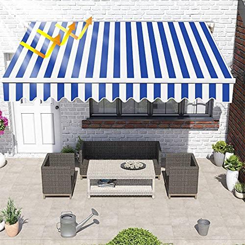 ZHANGLE Toldo de Brazo Plegable Manual de 2,5 x 2 m, toldo de poliéster de Aluminio Anti-UV e Impermeable, toldo retráctil para balcón y Veranda