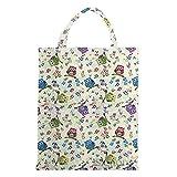 Signare Tapiz bolsas reutilizables fruta y verdura tote bag bolsas de la compra reutilizables con diseño de pájaro (Búho)