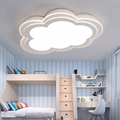 LighSCH Luci a soffitto Lampada per bambini nuvole semplice e moderna camera da letto caldo occhio creativo di protezione Lampada led Fixtures 30W luce calda 55cm