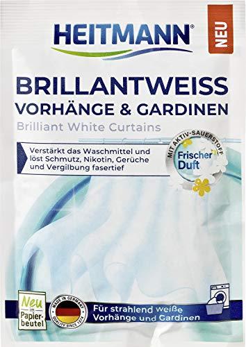 HEITMANN Brillantweiß Vorhänge & Gardinen 50g - Für strahlend weiße Vorhänge und Gardinen