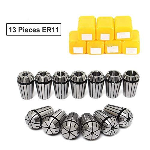 13 PCS ER11 Spring Collet Set for CNC Workholding Engraving /& Lathe Tool 1mm-7mm