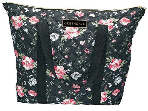 Greengate NYLBAGMEA9903 Meadow Tasche schwarz 54 x 42 cm