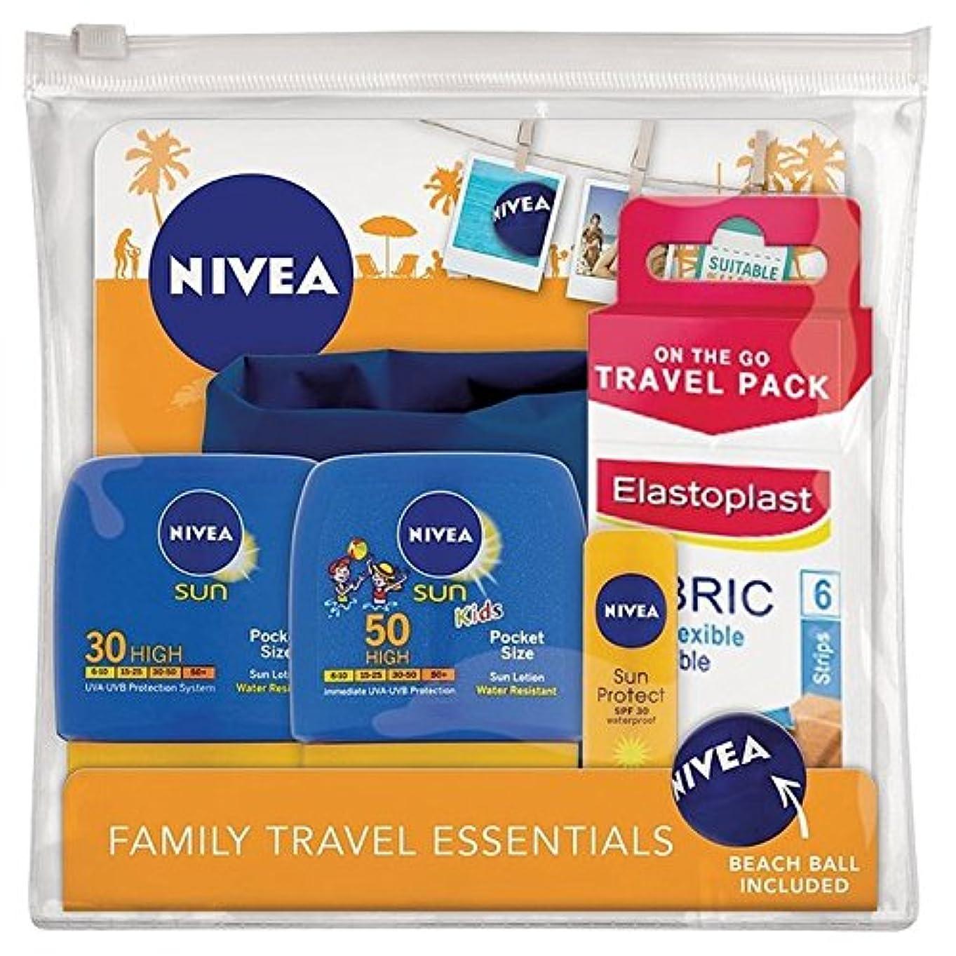 バイオレット鋸歯状ドームニベア日旅行パック x4 - Nivea Sun Travel Pack (Pack of 4) [並行輸入品]