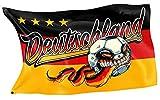 RAHMENLOS Original Design-Flagge für den Fussball Fan: Deutschland-Flagge