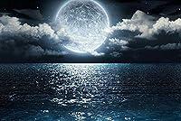 クロスステッチ 大人のためのクロスステッチキット 夜の海沿いの月 40x50cm 11CT番号別刺繍キット手作りキットパンチ針刺繍DIY初心者向け手作りスターターキット